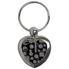 Come Down   Magenta Key Chains (heart)  by Valentinaart