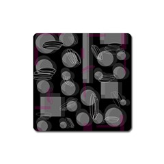 Come Down   Magenta Square Magnet by Valentinaart
