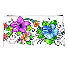 Tropical Hibiscus Flowers Pencil Cases by EverIris