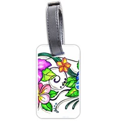 Tropical Hibiscus Flowers Luggage Tags (two Sides) by EverIris
