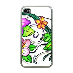 Tropical Hibiscus Flowers Apple Iphone 4 Case (clear) by EverIris