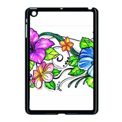 Tropical Hibiscus Flowers Apple Ipad Mini Case (black)