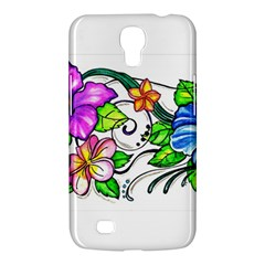 Tropical Hibiscus Flowers Samsung Galaxy Mega 6 3  I9200 Hardshell Case by EverIris
