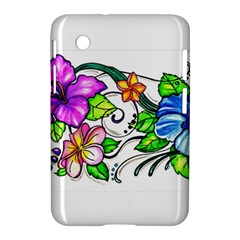 Tropical Hibiscus Flowers Samsung Galaxy Tab 2 (7 ) P3100 Hardshell Case  by EverIris