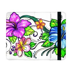 Tropical Hibiscus Flowers Samsung Galaxy Tab Pro 8 4  Flip Case by EverIris