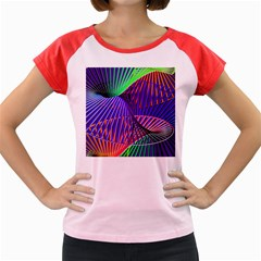 Colorful Rainbow Helix Women s Cap Sleeve T Shirt by designworld65