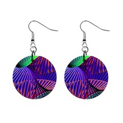 Colorful Rainbow Helix Mini Button Earrings by designworld65