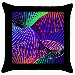 Colorful Rainbow Helix Throw Pillow Case (black) by designworld65