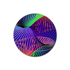 Colorful Rainbow Helix Rubber Round Coaster (4 Pack)  by designworld65
