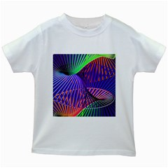 Colorful Rainbow Helix Kids White T Shirts by designworld65