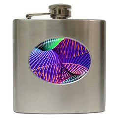 Colorful Rainbow Helix Hip Flask (6 Oz) by designworld65