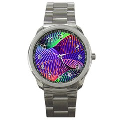 Colorful Rainbow Helix Sport Metal Watch by designworld65