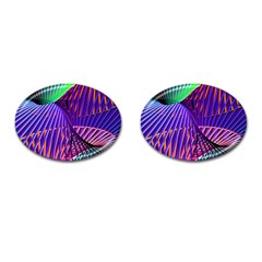 Colorful Rainbow Helix Cufflinks (oval) by designworld65