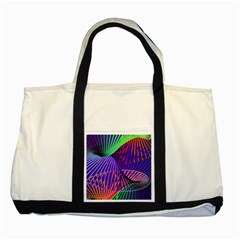 Colorful Rainbow Helix Two Tone Tote Bag by designworld65