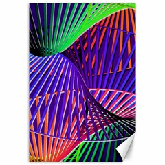Colorful Rainbow Helix Canvas 24  X 36  by designworld65