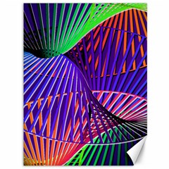 Colorful Rainbow Helix Canvas 36  X 48   by designworld65