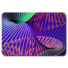 Colorful Rainbow Helix Large Doormat  by designworld65