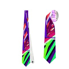 Colorful Rainbow Helix Neckties (one Side)  by designworld65