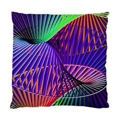Colorful Rainbow Helix Standard Cushion Case (one Side) by designworld65