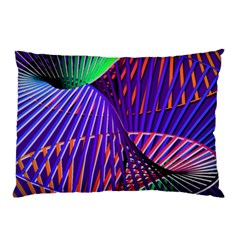 Colorful Rainbow Helix Pillow Case by designworld65