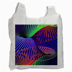 Colorful Rainbow Helix Recycle Bag (one Side) by designworld65