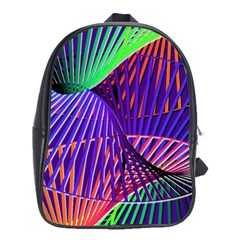 Colorful Rainbow Helix School Bags(large)  by designworld65