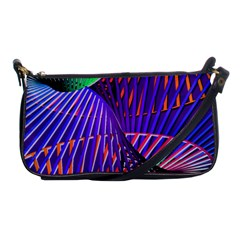 Colorful Rainbow Helix Shoulder Clutch Bags by designworld65