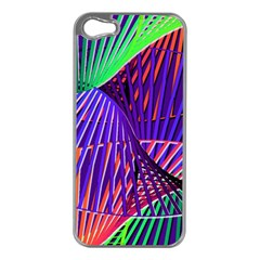 Colorful Rainbow Helix Apple Iphone 5 Case (silver) by designworld65