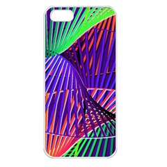 Colorful Rainbow Helix Apple Iphone 5 Seamless Case (white) by designworld65