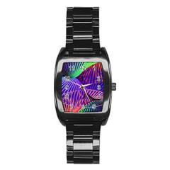 Colorful Rainbow Helix Stainless Steel Barrel Watch by designworld65