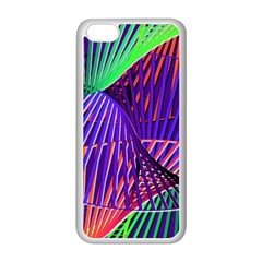 Colorful Rainbow Helix Apple Iphone 5c Seamless Case (white) by designworld65