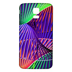 Colorful Rainbow Helix Samsung Galaxy S5 Back Case (white) by designworld65