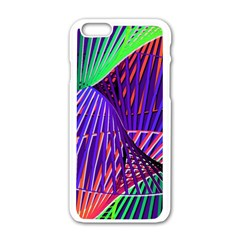 Colorful Rainbow Helix Apple Iphone 6/6s White Enamel Case by designworld65