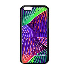 Colorful Rainbow Helix Apple Iphone 6/6s Black Enamel Case by designworld65