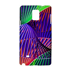 Colorful Rainbow Helix Samsung Galaxy Note 4 Hardshell Case by designworld65