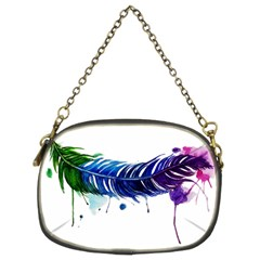 Watery Feather Chain Purses (two Sides)  by EverIris