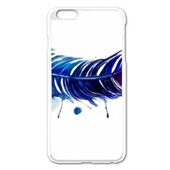 Watery Feather Apple Iphone 6 Plus/6s Plus Enamel White Case by EverIris