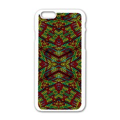 Mandela Check Apple Iphone 6/6s White Enamel Case by MRTACPANS