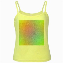 Rainbow Colorful Grid Yellow Spaghetti Tank by designworld65