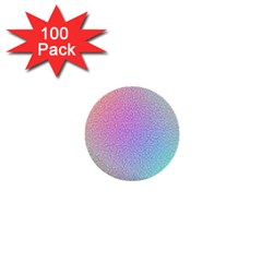 Rainbow Colorful Grid 1  Mini Buttons (100 Pack)  by designworld65