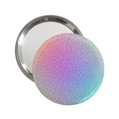 Rainbow Colorful Grid 2 25  Handbag Mirrors by designworld65