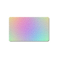 Rainbow Colorful Grid Magnet (name Card) by designworld65