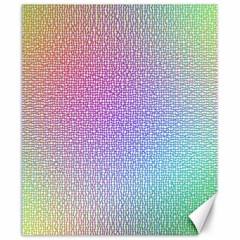 Rainbow Colorful Grid Canvas 20  X 24   by designworld65