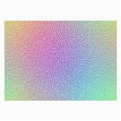 Rainbow Colorful Grid Large Glasses Cloth by designworld65
