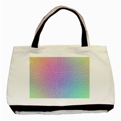 Rainbow Colorful Grid Basic Tote Bag (two Sides) by designworld65