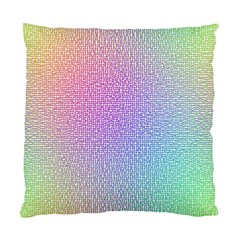 Rainbow Colorful Grid Standard Cushion Case (two Sides) by designworld65