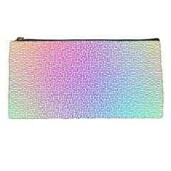 Rainbow Colorful Grid Pencil Cases by designworld65