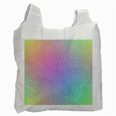 Rainbow Colorful Grid Recycle Bag (one Side) by designworld65