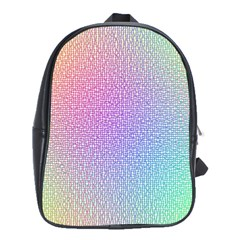 Rainbow Colorful Grid School Bags(large)  by designworld65
