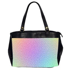 Rainbow Colorful Grid Office Handbags (2 Sides)  by designworld65